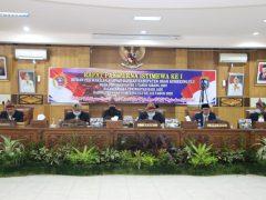 Rapat Paripurna Istimewa I DPRD Kabupaten OKU Masa Persidangan ke – 3 Tahun 2020 Dalam Rangka Memperingati Hari Jadi yang ke – 110 Kabupaten OKU Tahun 2020
