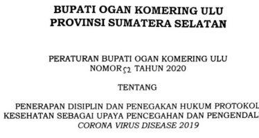Penerapan Disiplin dan Penegakkan Hukum Protokol Kesehatan Sebagai Upaya Pencegahan dan Pengendalian Corona Virus Disease 2019