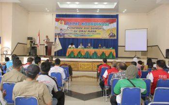 Rapat Teknis Persiapan PORPROV Sumatera Selatan Ke-XIII Tahun 2021 Bertempat di Gedung SKB Baturaja, Kamis (19/11/2020).