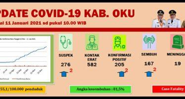 Update Covid-19 Kab.OKU, Per 14 Januari 2021