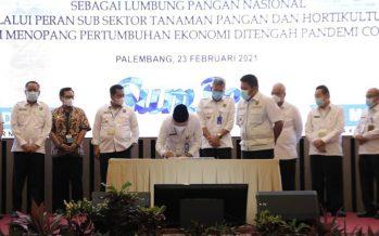 Pelaksana Harian Bupati OKU Dr. Drs. Ir. H. Achmad Tarmizi, SE., SH, MT.,M.Si.,M.H. M.Pd. Menghadiri Acara Rakerda Pembangunan Pertanian Tanaman Pangan dan Holtikultura Provinsi Sumatera Selatan Tahun 2021