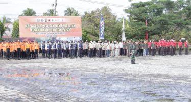 Plh Bupati OKU Pimpin Apel Gelar Pasukan dan Peralatan Kebakaran Hutan dan Lahan di Kab OKU