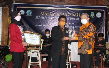 Sekda OKU Dr. Drs. Ir. H. Achmad Tarmizi, SE, SH, MT, M.Si, MH, M.Pd Menghadiri Malam Anugerah Asosiasi LPPL Indonesia Award 2021