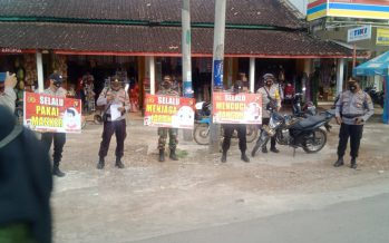 Polres Ogan Komering Ulu (OKU) dan jajarannya, melaksanakan kegiatan secara serentak Himbauan Mang PDK Serbu Covid-19 Zona Orange